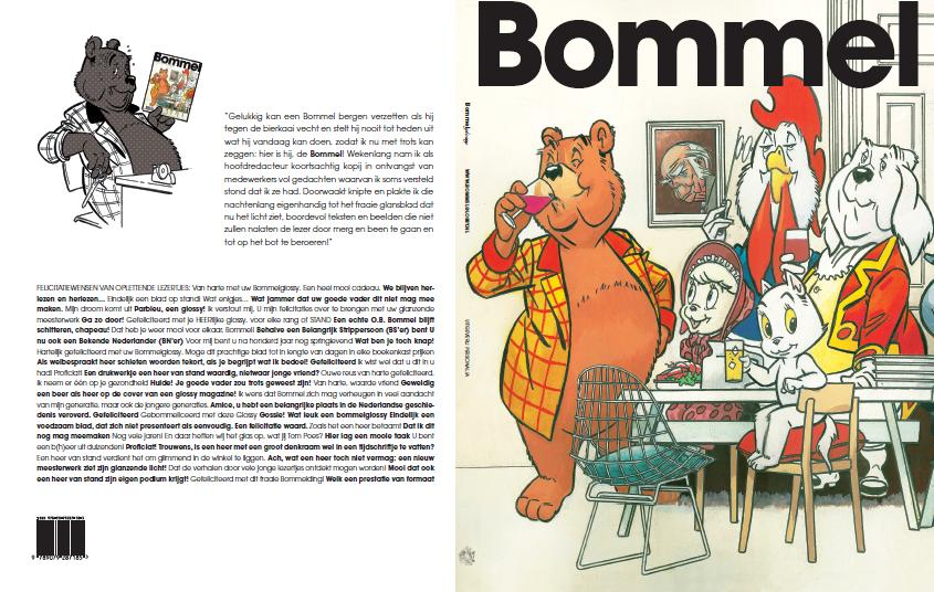 Omslag Bommelglossy hardcover plus achterkant