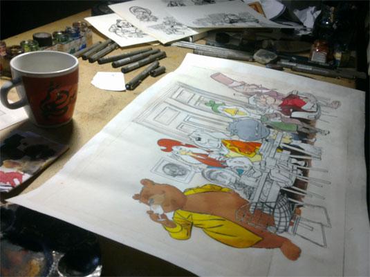 Dick Matena geeft omslag glossy BOMMEL. kleur