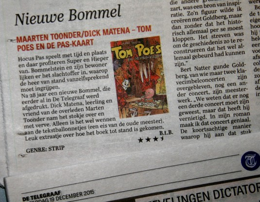 Bommel Pas-kaart in Telegraaf